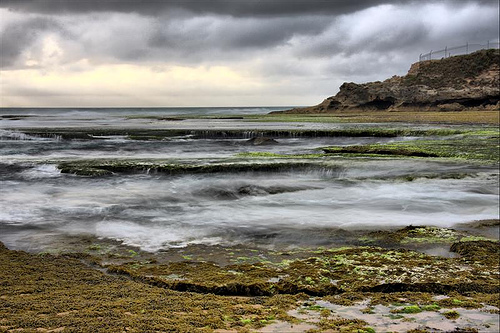 Storm in the rock pools