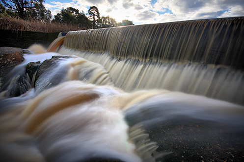 Polly McQuinn's Weir - Strathbogie - the spillway - Jim Worrall