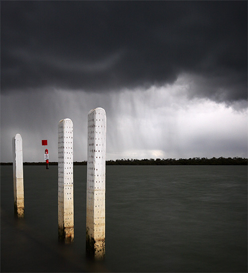 Run from the Hail - Jim Worrall - Tooradin jetty - westernport bay