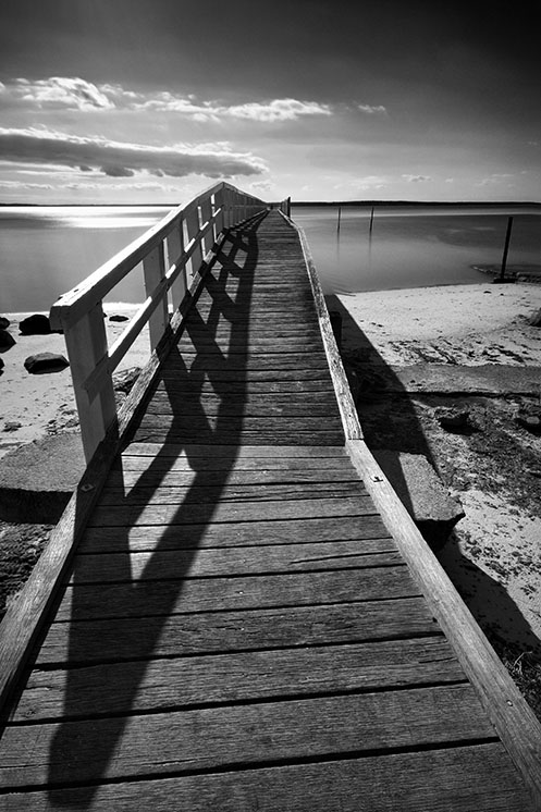 The Promise of Warm Days - Jim Worrall - Grantville pier - jetty