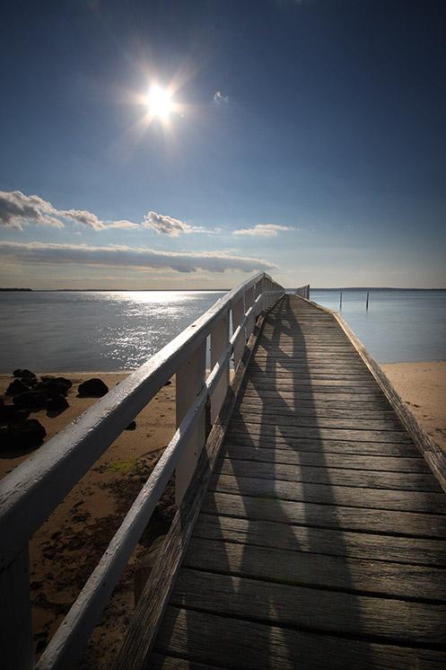 The Fisrt Days of Sun - Jim Worrall - Grantville pier - jetty