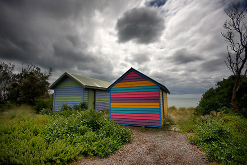 Lolly Boxes 1 - Jim Worrall - Mornington Peninsula - Australia - bathing box.