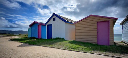Lolly Boxes 3 - Jim Worrall - Safety Beach - Mornington Peninsula - Australia - bathing box