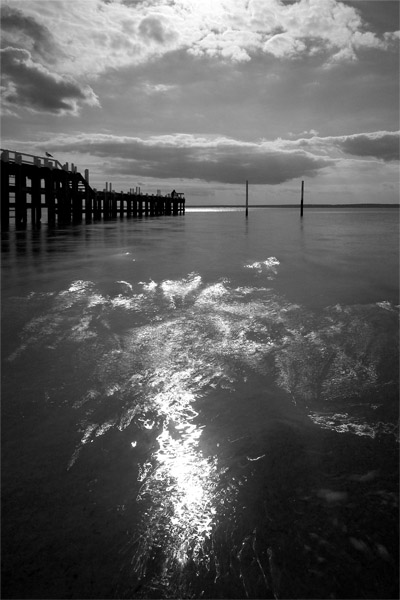 Grantville jetty and goal posts - Jim Worrall - Westernport Bay - Australia