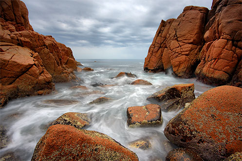 Waiting for the Swirl of White - Jim Worrall - Pinnacles - Phillip Island