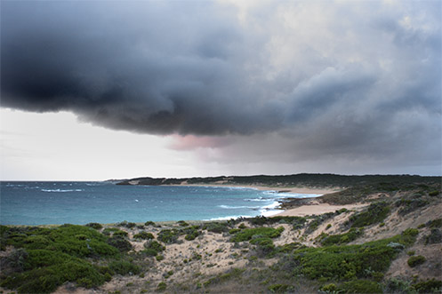 Thar She Blows - Jim Worrall - Beachport South Australia - storm clouds over beach