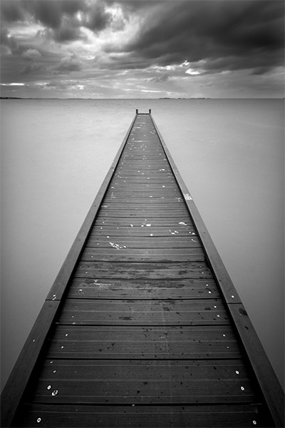 Traces - Jim Worrall - Meningie - Lake Albert - South Australia - jetty