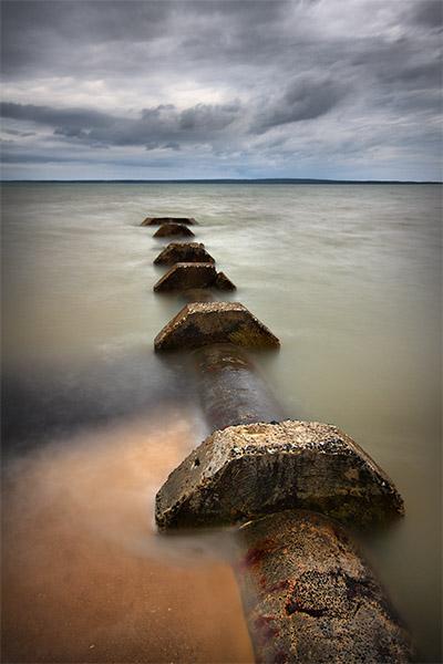 Purge - Jim Worrall - Grantville - Westernport Bay - beach - drain - hdr - long exposure