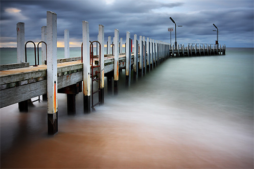 Safety Beach Jetty - Jim Worrall - Port Phillip Bay - Australia - beach