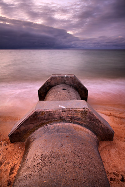 Seep - Jim Worrall - Safety Beach - Port Phillip Bay - Australia - drain