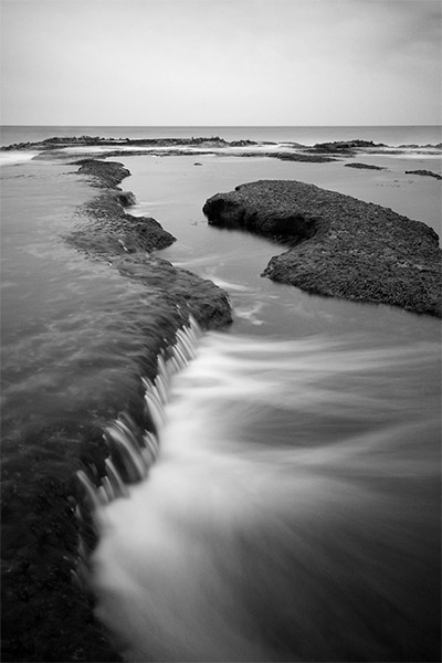 Cascading water - Jim Worrall - Sorrento back beach - Australia