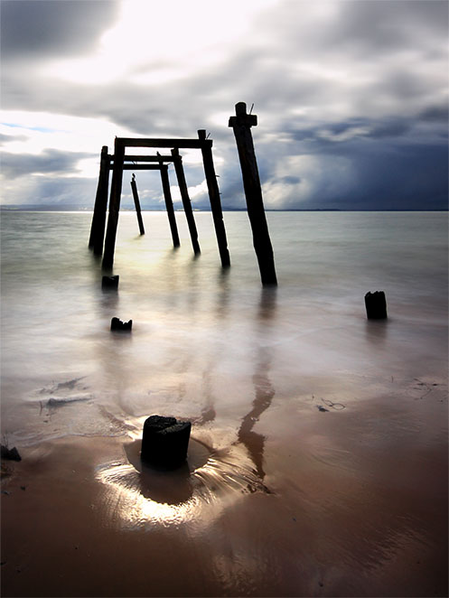 The Roost - jetty ruins - Jim Worrall - Cat Bay - Phillip Island - Australia