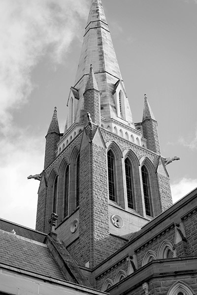 Bendigo Sacred Heart Cathedral - Jim Worrall - church - Australia - black and white