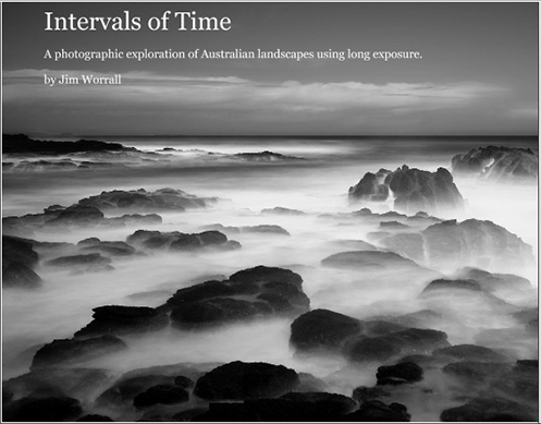 Intervals of Time - Jim Worrall - ND400 - long exposure - black and white - seascape - book