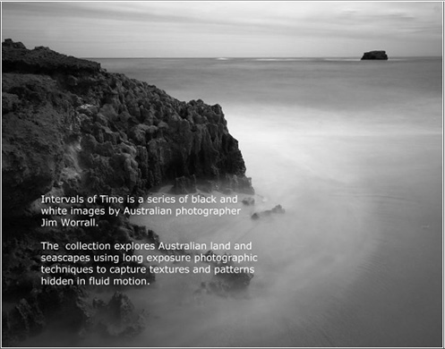 Intervals of Time - Jim Worrall - ND400 - seascape - long exposure - black and white - Australia