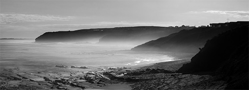 The Mists of Kilcunda - Jim Worrall - Australia - Bass Coast - long exposure - black and white