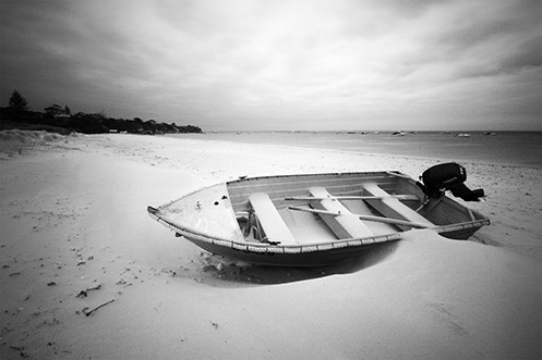 Boat on Shelley Beach - Portsea - Jim Worrall - Mornington Peninsula - Port Phillip Bay