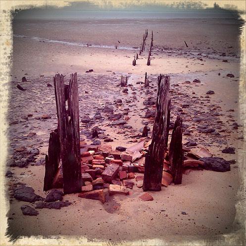 Queensferry - seawall - Jim Worrall - Western Port Bay