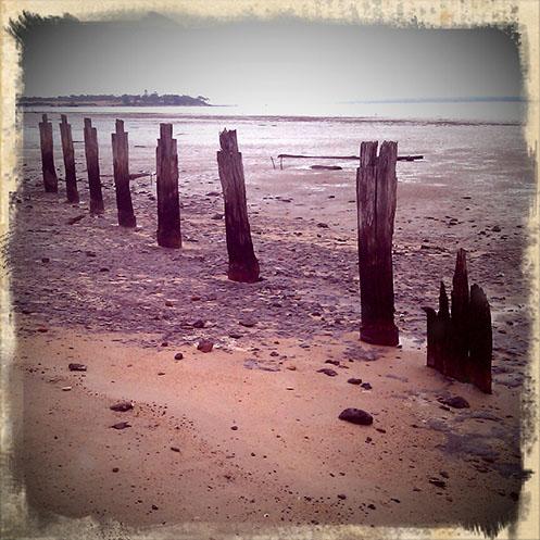Queensferry - seawall - Western Port Bay - low tide - Jim Worrall