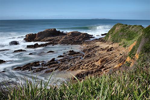 Dalmeny beach - Duesbury headland - Jim Worrall - seascape - australia - beach