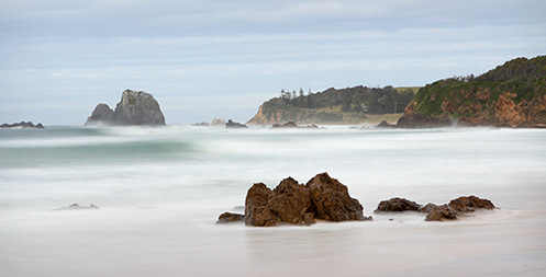 Narooma beach - Glasshouse rocks - Jim Worrall - seascape - beach - Australia