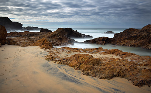 Narooma beach - Jim Worrall - seascape - misty ocean - sea