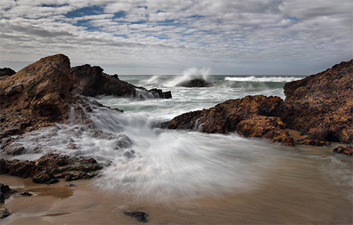 Narooma beach - Jim Worrall - seascape - ocean - Australia