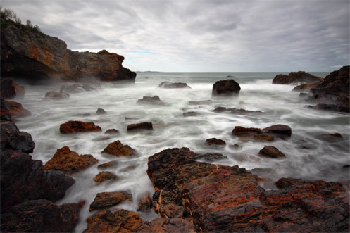 Mystery Bay - Australia - Jim Worrall - long exposure - misty - seascape - ocean - beach