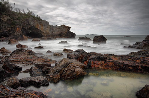 Mystery Bay - Australia - Mist in the cove - Jim Worrall - long exposure - ND400