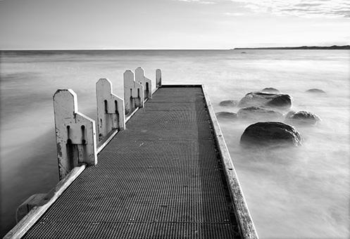 Cape Conran Jetty - Jim Worrall - seascape - ocean - misty waves - long exposure - beach