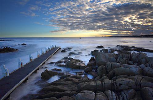 Cape Conran Jetty - Jim Worrall - seascape - long exposure - ND400 - misty - sea - ocean