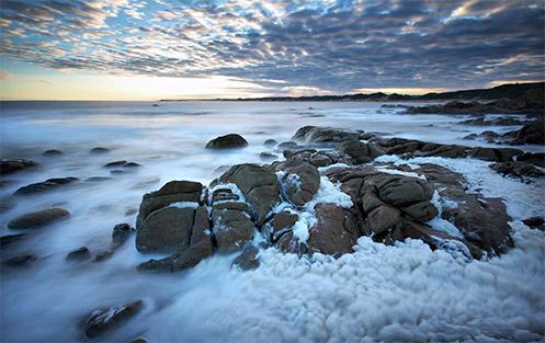 Foam at Cape Conran - Jim Worrall - seascape - beach - ocean - Australia