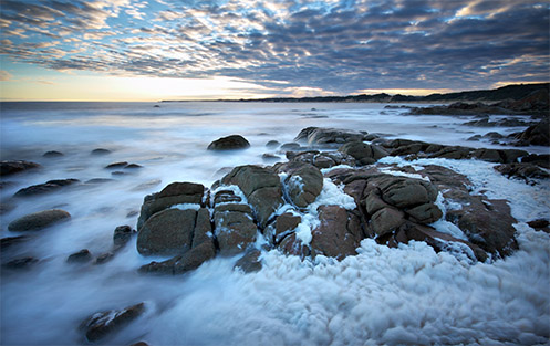 Foam at Cape Conran - Jim Worrall - seascape - beach - ocean - Australia