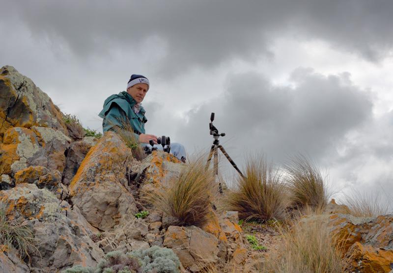 John Nabben on cliff at Cape Liptrap