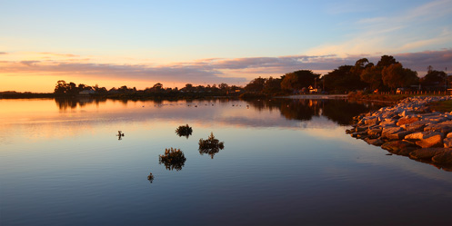 Tooradin foreshore sunset - Jim Worrall - Western Port Bay - Australia