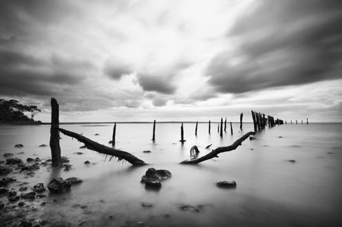 Tenby Point Jetty - Jim Worrall - Western Port Bay - Australia - storm clouds