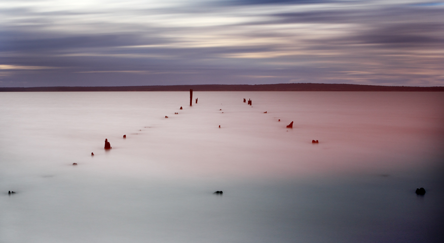 Grantville jetty remnants - Jim Worrall - Western Port Bay - nd400 long exposure