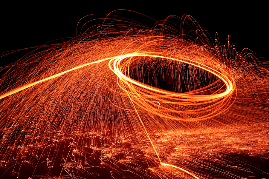Experiments with burning steel wool