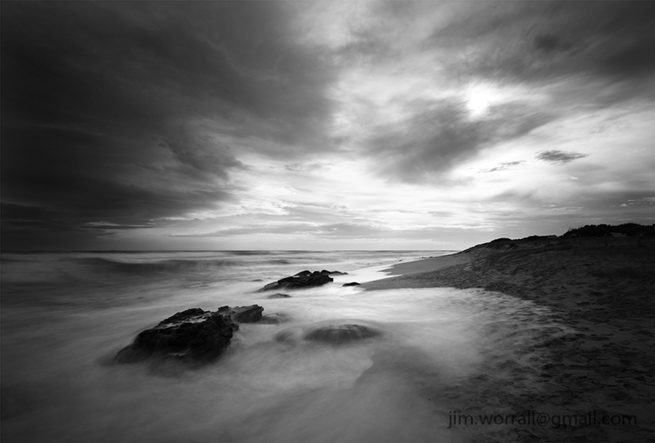 Jim Worrall - St Andrews Beach - Mornington Peninsula - long exposure - black and white