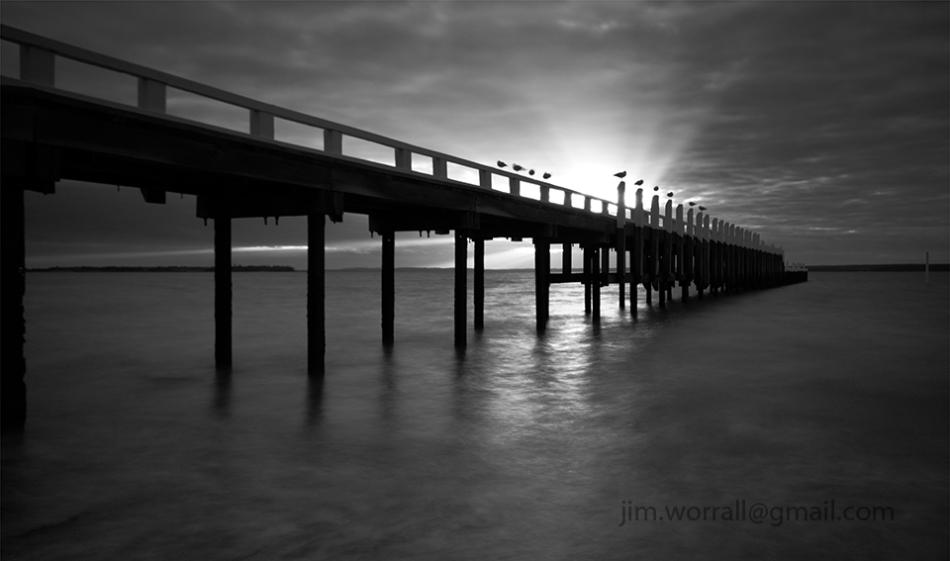 beach sunset black and white. sunset at grantville jetty western port bay jim worrall beach black and white