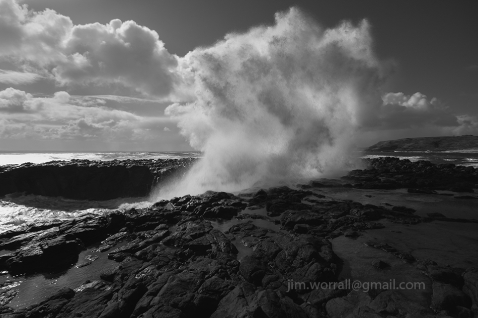jim worrall, phillip island, australia, seascape, black and white