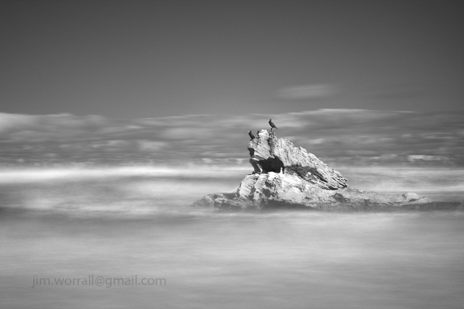 Jim Worrall, Mornington Peninsula, seascape, long exposure, black and white