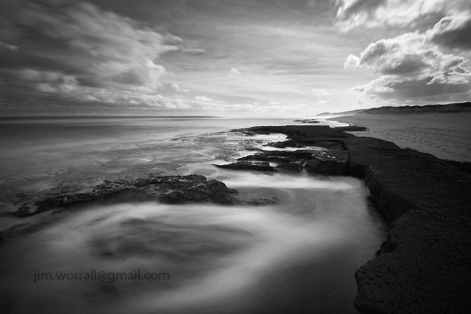 seascape, beach, Jim Worrall