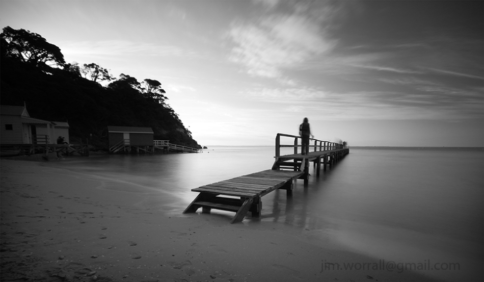 morington peninsula, Jim Worrall, portsea, long exposure, black and white