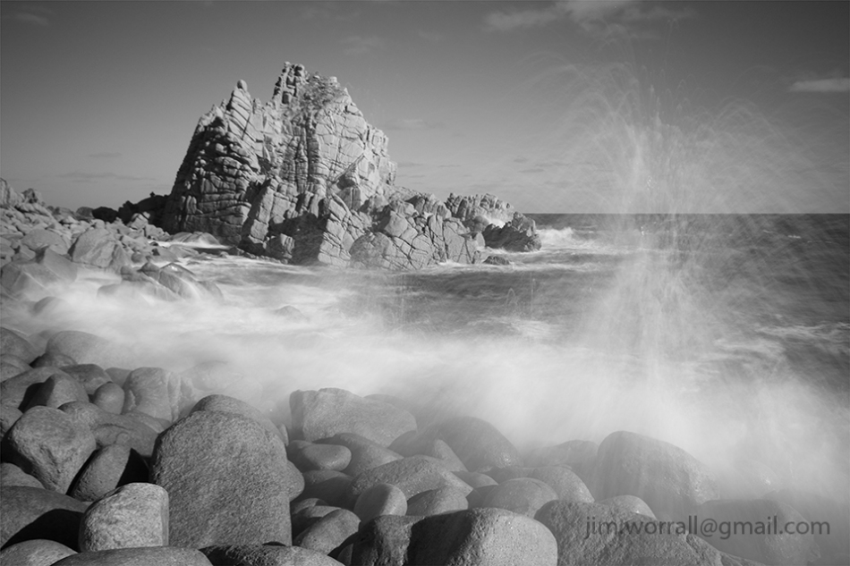 long exposure, black and white, Jim Worrall, seascape