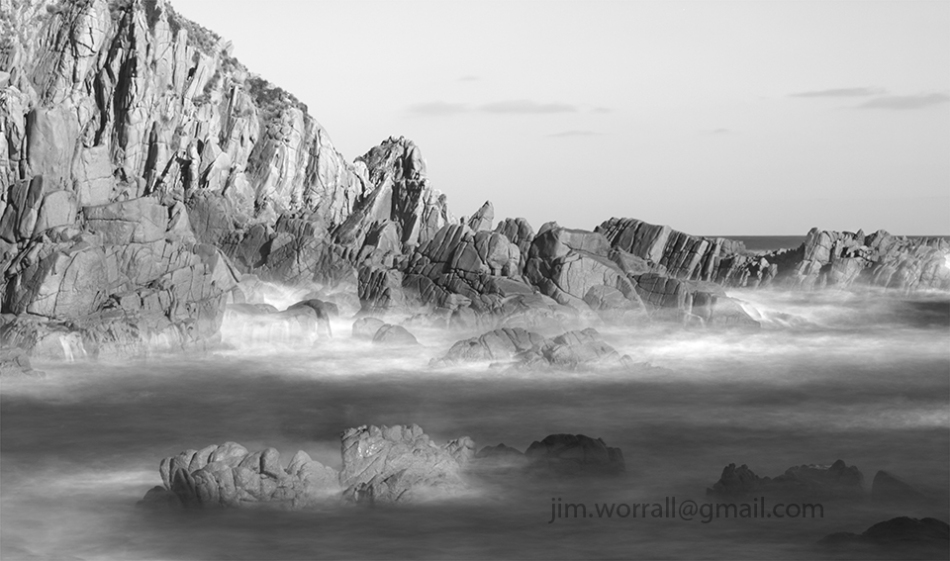 Phillip Island, Jim Worrall, ND400, long exposure, black and white