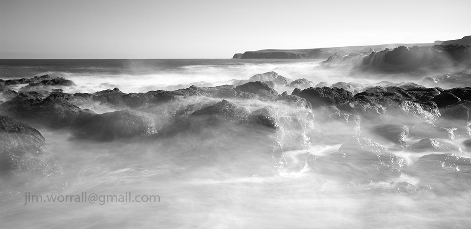 Flinders, Mornington Peninsula, seascape, black and white, long exposure, Australia