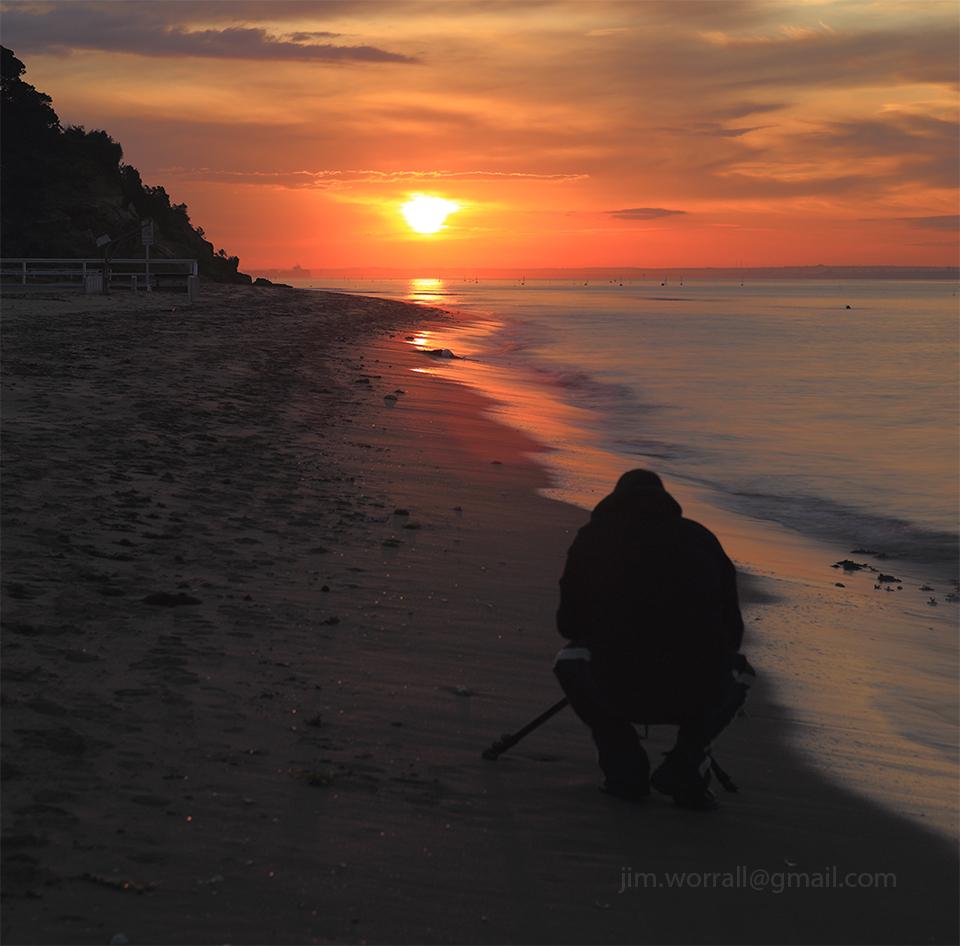 Jason Cincotta, mornington peninsula, Jim Worrall, beach, long exposure, sunset