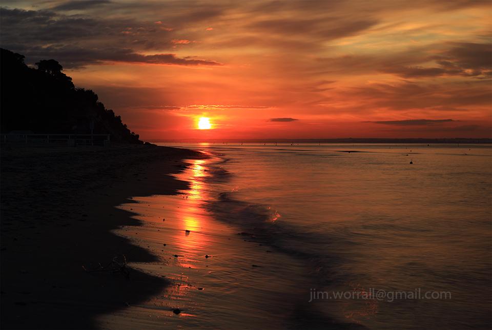 Mornington Peninsula, beach, seascape, sunset, long exposure