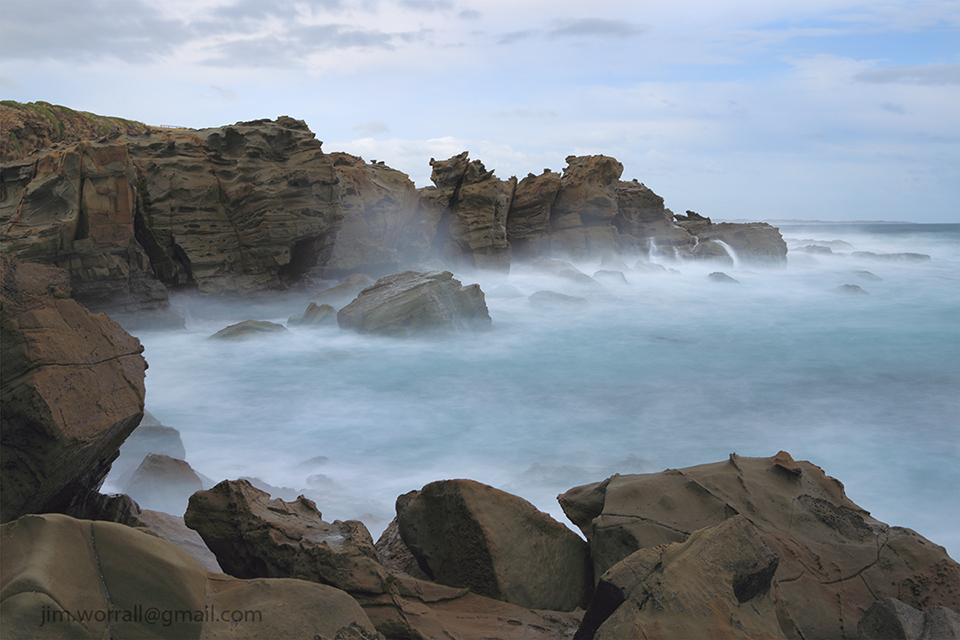 Jim Worrall, George Bass Coastal Walk, Kilcunda, long exposure, ND400